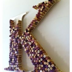 Made from wine corks.