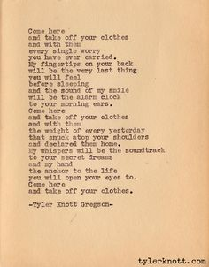 Typewriter Series #3 by Tyler Knott Gregson.