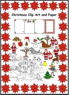 34 Christmas Clip Art.  Png format with transparent backgrounds.