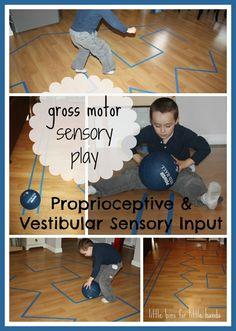 Simple Indoor Gross Motor Sensory Play