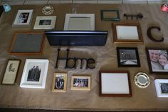 frame placement on a photo wall