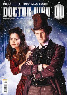 b0rn-to-bl0ssom:    Matt Smith & Jenna Louise Coleman as The Doctor & Clara | Doctor Who Magazine