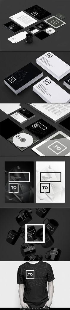 Graphic Black and White Brand Identity