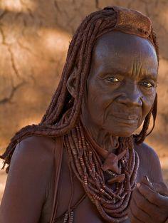 Old Himba woman. Namibia