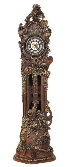 Hand-carved Grandfather Clock