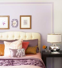 Really loving the purple and gold combination. For More Decorating Updates for Less visit: http://www.bhg.com/decorating/budget-decorating/cheap/cheap-decorating-ideas/#
