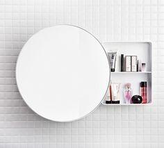 Bath mirror and shelf