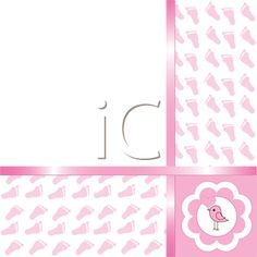 iCLIPART - Royalty Free Clipart Image of a Baby Girl Arrival Card