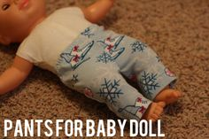 sewing: Pants for Baby Doll tutorial || Zuzzy
