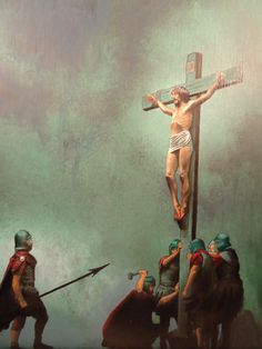 My sins caused this but jesus was overjoyed to do this for me! Awe inspiring! Crucifixion of Christ.......oil on canvas board  by Raven Wing Hughes