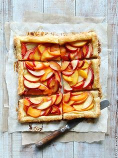 Easy Summer Tart by bakersroyale #Tart #Summer #Peaches #Stone_Fruit