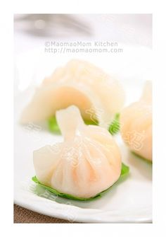 Steamed Shrimp Dumplings - Har Gow recipe with homemade wrappers