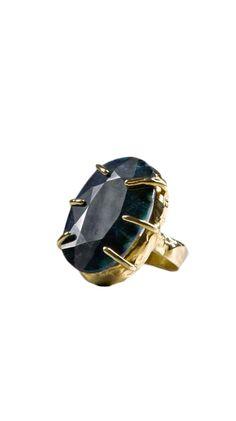 Abundant Opaque Sapphire Ring