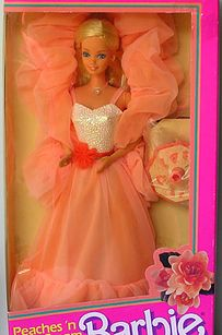 childhood memories 80s, barbie 90's, barbies from the 80s, 80s barbie dolls, peaches and cream barbie