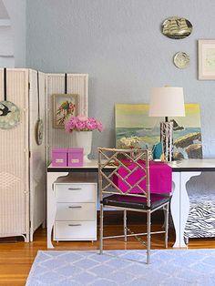 decorating small spaces, chair, apart decor, apartment decorating office, dream, apartment makeover, apart makeov, apartment ideas, bright colors