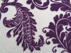 Velvet Style Fabric Dim Purple