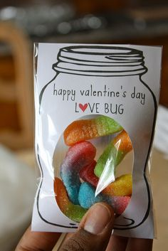 Cute mason jar Valentines idea