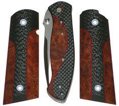 Amboyna Burl & carbon fiber knife