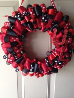U of L University of Louisville Ribbon Wreath