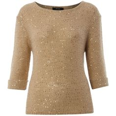 Therapy Christmas sequin fine knit jumper ($73) ❤ liked on Polyvore