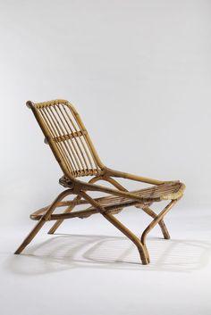 Joseph-André Motte; Rattan 'Sabre' Chair, 1954.