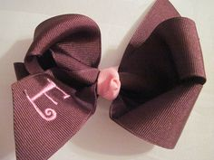 Monogrammed bow! Too cute! boutique bows, monogram bow