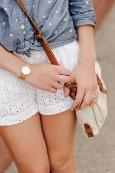 eyelet shorts.<3