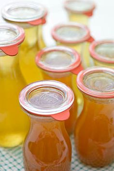 Weck juice jars for canning cordials and fruit juice