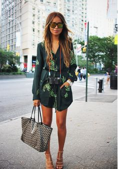 Forest green floral prints