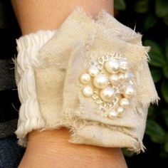 Romantic Ruffled Bracelets are a wonderful example of how DIY jewelry can be both elegant enough for a holiday, yet casual enough for every day wear.