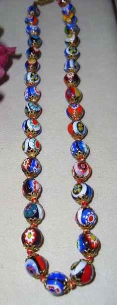 Vintage Venetian Millefiori Glass work Filigree by vintagelady7, $49.99