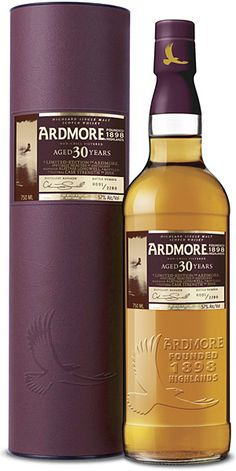 I'll have to try this, for the Scotch & the pretty eggplant container. Ardmore-30yrs-Single Malt