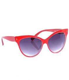 Red Contessa Sunglasses - Unique Vintage - Cocktail, Pinup, Holiday & Prom Dresses.