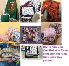 How to make a no-sew blanket and pillow
