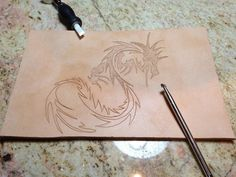 Dragon pocket for Adventure Bag (hand tooled)