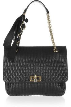 LANVIN  The Happy medium quilted leather shoulder bag  $2,160