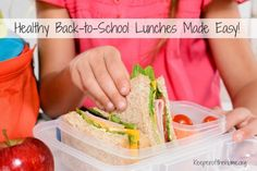 Healthy Back to School Lunches Made Easy {KeeperoftheHome.org}