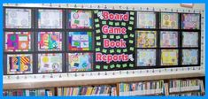 Game board book reports-that's clever!