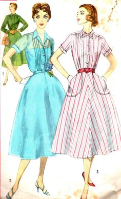 Vintage Sewing Pattern 1950s Simplicity 2070 by paneenjerez, $14.00