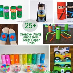 25  Creative Crafts made from Toilet Paper Rolls #howdoesshe #kidcrafts howdoesshe.com
