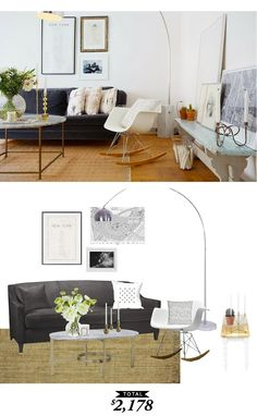 A scandinavian living room recreated for $2178 by @audreycdyer #roomredo #getthelook