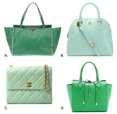 Green purses. Which one would you go for?