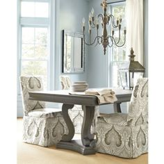 Love this dining room table and chairs!