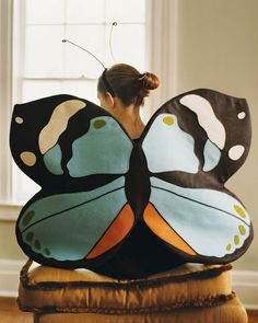 DIY butterfly wings tutorial at Martha Stewart... maybe I could use this to make Angel wings for a costume