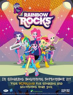 MY LITTLE PONY: Equestria Girls: Exclusivo: ¡¡Póster Oficial de La Película MLPEG Rainbow Rocks!!