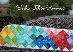 olympic table runner tutorial | patchwork posse #quilt #olypicssochi