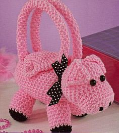 Would love this as a bunny for my little girl! Cute Critter Purses To Crochet