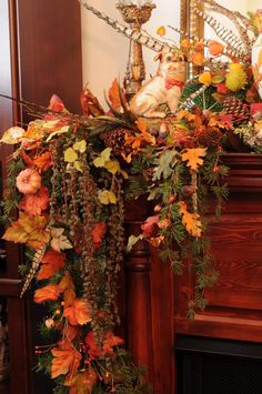 Image detail for -Fall decorated fireplace mantels - Home Decorating & Design Forum ... fireplace mantles, fall mantels, decorating ideas, fireplace mantels, mantle decorating, fall decorations, garland, design, mantel decorations