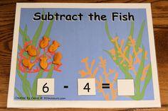 Montessori-inspired fish-themed math ideas