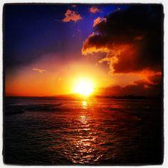 Perfect #Hawaii sunset.